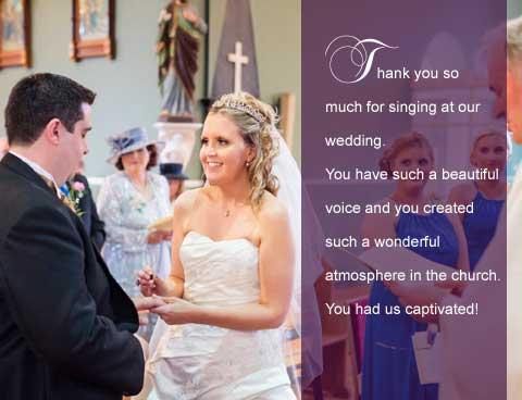 Wedding singer review testimonial 1