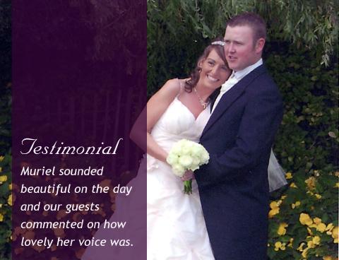 Wedding singer testimonial